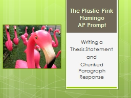 The Plastic Pink Flamingo PowerPoint PPT Presentation