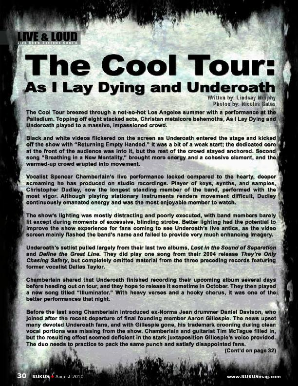 The Cool Tour breezed through a not-so-hot Los Angeles summer with a p PowerPoint PPT Presentation
