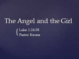 The Angel and the Girl PowerPoint Presentation, PPT - DocSlides