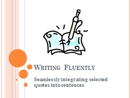 Writing Fluently
