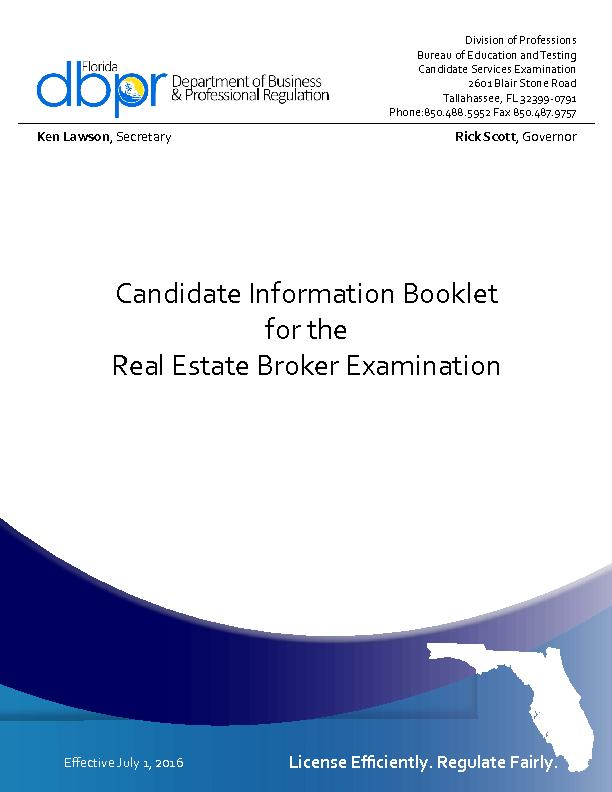 Candidate Information Booklet PowerPoint PPT Presentation