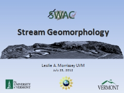 Stream Geomorphology PowerPoint PPT Presentation