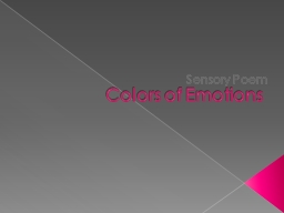 Colors of Emotions