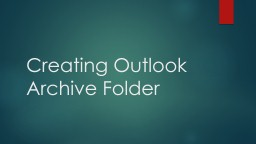 Creating Outlook