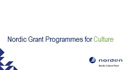 Nordic Grant Programmes for