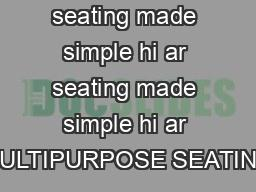 brawny seating made simple hi ar seating made simple hi ar MULTIPURPOSE SEATING