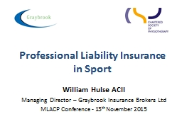 Professional Liability Insurance in Sport