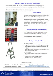 Working at Height in Low Hazard Environments