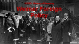 Weimar Foreign Policy