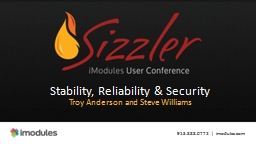 Stability, Reliability & Security