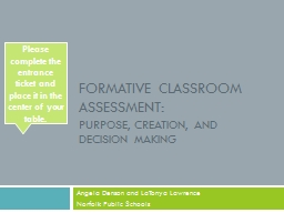 Formative Classroom Assessment: