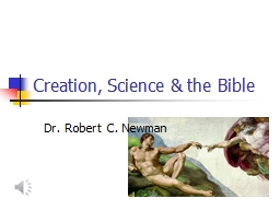 Creation, Science & the Bible