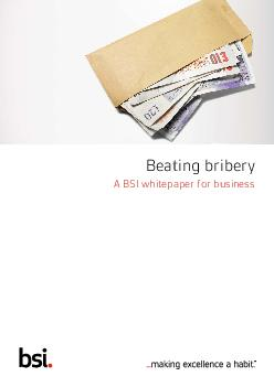 Beating bribery A BSI whitepaper for business  Beating bribery  A BSI whitepape
