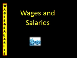 Wages and