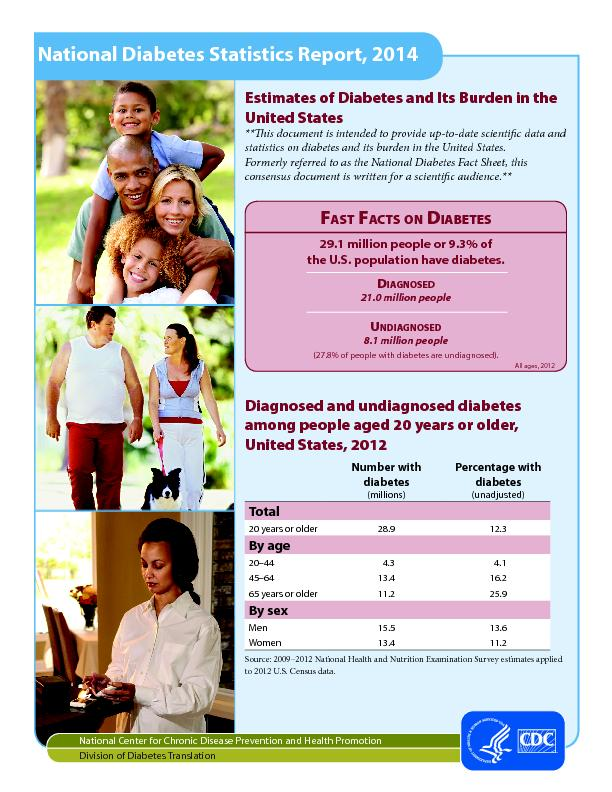 Estimates of Diabetes and Its Burden in the