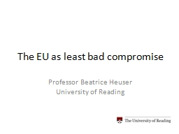 The EU as least bad compromise