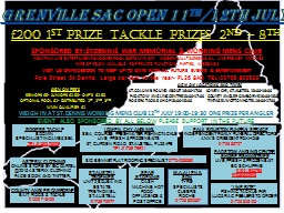 GRENVILLE SAC OPEN 11