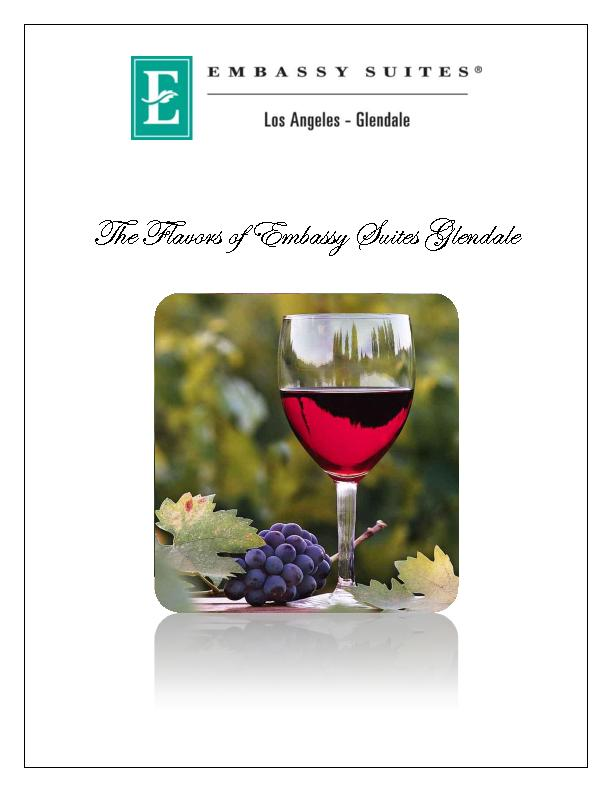 The Flavors Of Embassy Suites Glendale Pdf Document