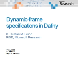 Dynamic-frame specifications in PowerPoint PPT Presentation