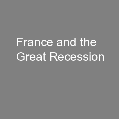 France and the Great Recession