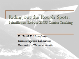 Riding out the Rough Spots: PowerPoint PPT Presentation