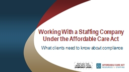 Working With a Staffing Company