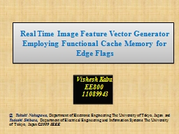 Real Time Image Feature Vector Generator Employing Function