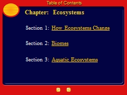 Chapter:  Ecosystems PowerPoint PPT Presentation