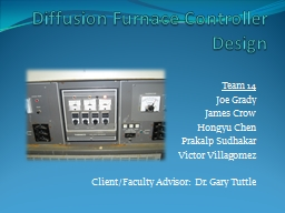 Diffusion Furnace Controller Design