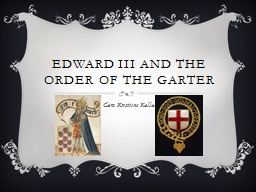 Edward III and the order of the garter