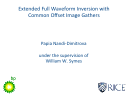 Extended Full Waveform Inversion with Common Offset Image G