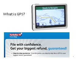 1 What is GPS?