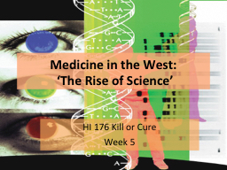 Medicine in the West