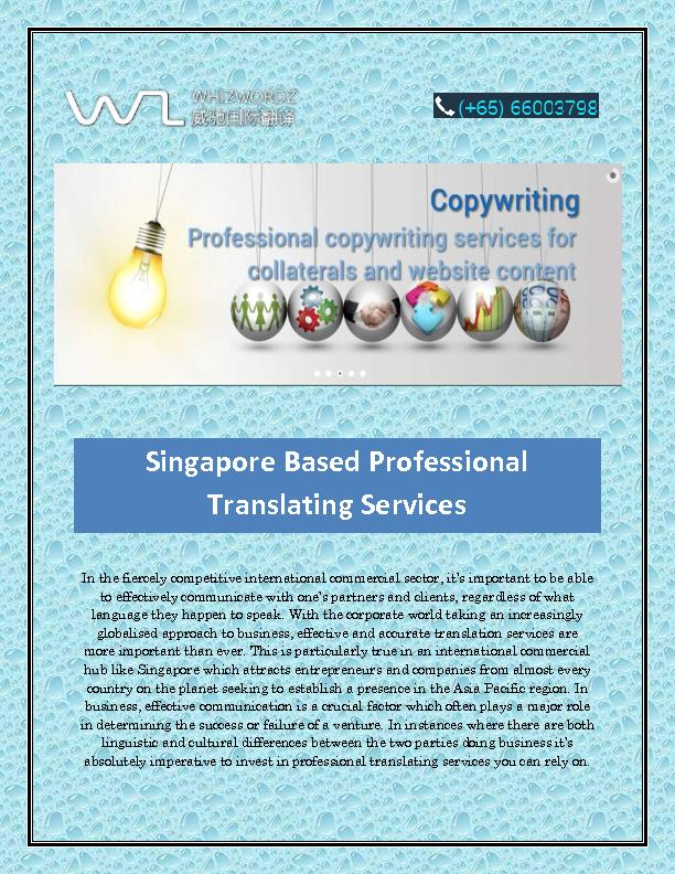 Translation Company in Singapore
