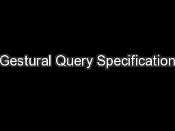 Gestural Query Specification