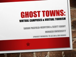 GHOST TOWNS: