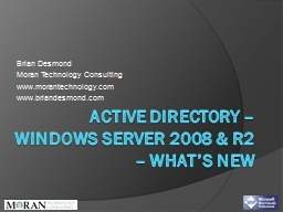 Active directory – Windows Server 2008 & R2 – what