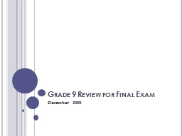 Grade 9 Review for Final Exam