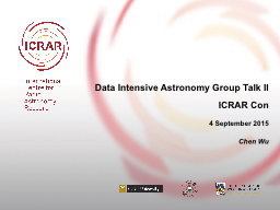 Data Intensive Astronomy