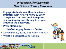 Investigate Sky Color with PowerPoint PPT Presentation
