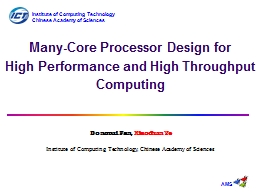 Many-Core Processor Design for
