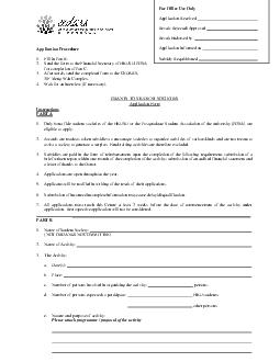 Application Procedure 1. Fill in Part B. 2. Send the form to the Finan