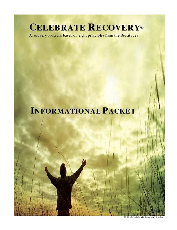 WELCOME TO CELEBRATE RECOVERY!Celebrate Recovery is a Christcentered r