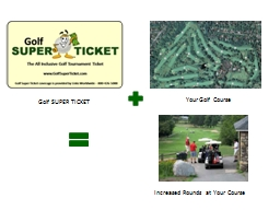 Golf SUPER TICKET