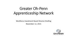 Greater Oh-Penn Apprenticeship Network