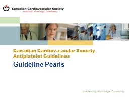 Guideline Pearls