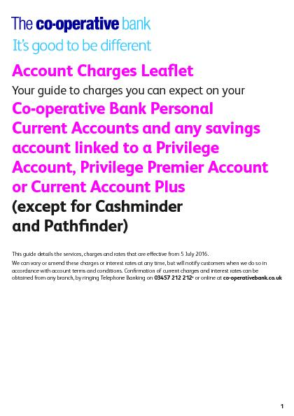 Account Charges Leaet