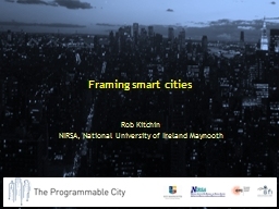 Framing smart cities
