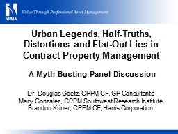 Urban Legends, Half-Truths, Distortions and Flat-Out Lies i