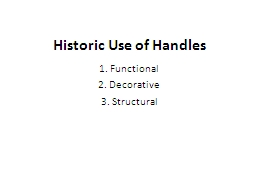 Historic Use of Handles